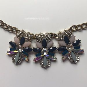 J. Crew Multicolor Jeweled Statement Necklace